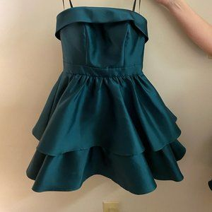 Dresses & Skirts - 2 Green Strapless Ruffle Dresses